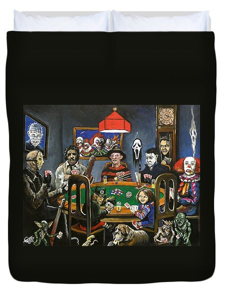 The Second Horror Game Duvet Cover by Tom Carlton