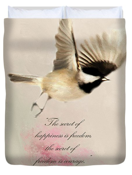 Duvet Cover featuring the photograph The Secret by Darren Fisher
