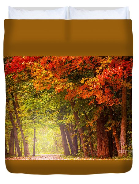 Duvet Cover featuring the photograph The Secret Place by Rima Biswas