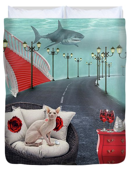 The Secret.. Duvet Cover by Prar Kulasekara