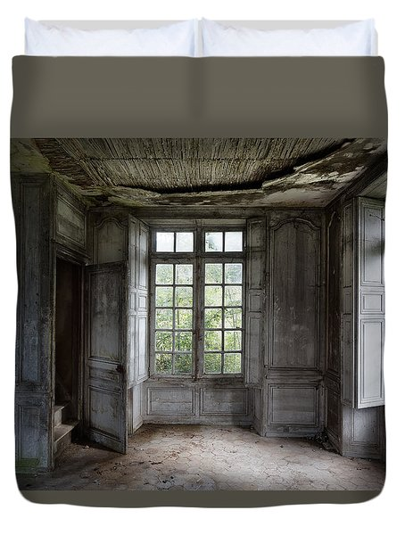 The Secret Stairs To Heaven - Abandoned Building Duvet Cover
