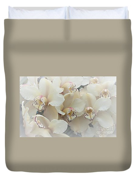 The Secret To Orchids Duvet Cover by Sherry Hallemeier