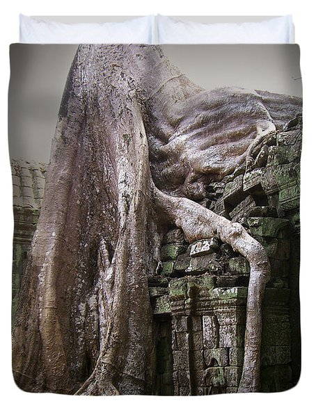 The Secrets Of Angkor Duvet Cover by Eena Bo