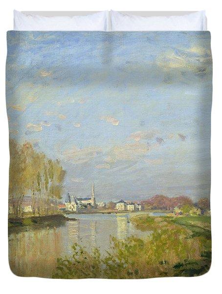 The Seine At Argenteuil Duvet Cover by Claude Monet