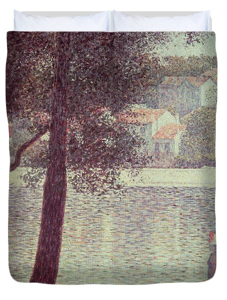 The Seine At Courbevoie Duvet Cover by Georges Pierre Seurat