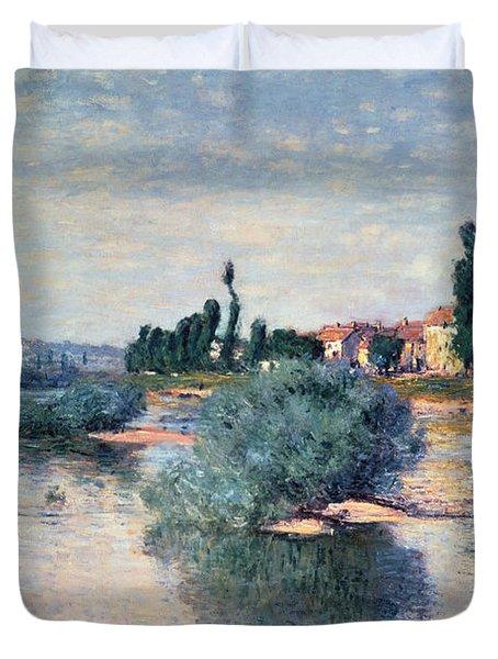 The Seine At Lavacourt Duvet Cover