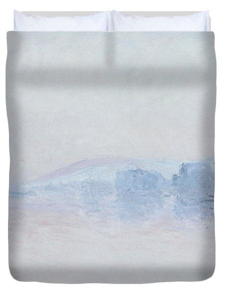 The Seine Near Vernon Duvet Cover by Claude Monet