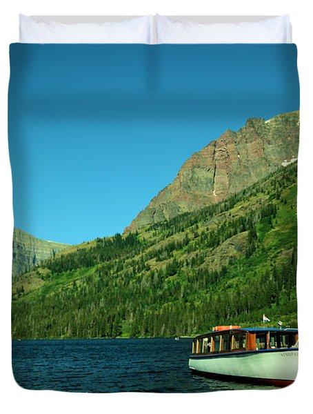The Senopah Two Medicine Lake Glacier National Park Duvet Cover