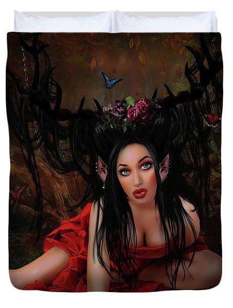 Sensual Wood Fairy Duvet Cover