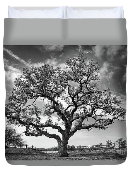 The Sentinel Bw Duvet Cover