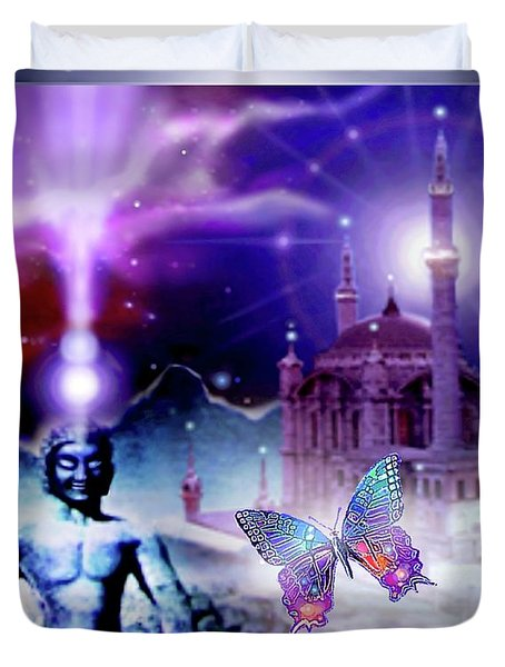 The Serenity Of Wisdom... Duvet Cover