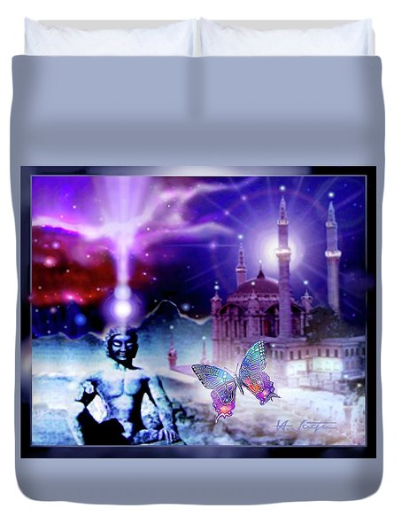 The Serenity Of Wisdom... Duvet Cover