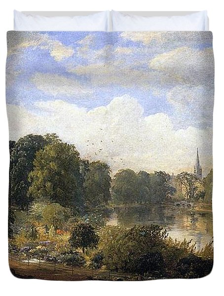The Serpentine Duvet Cover by Jasper Francis Cropsey