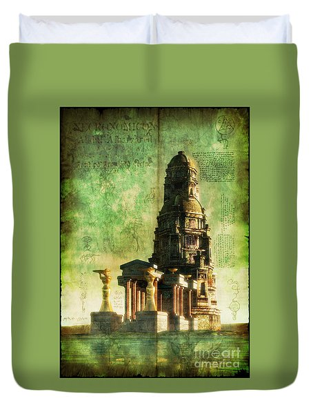 The Seven Cryptical Books Of Hsan Duvet Cover by Luca Oleastri