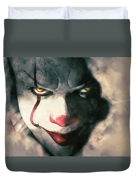 The Sewer Clown Duvet Cover
