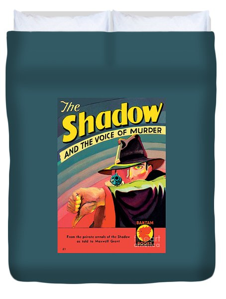 Duvet Cover featuring the painting The Shadow by George Rozen