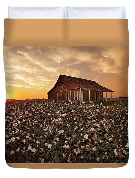 The Sharecropper Shack Duvet Cover