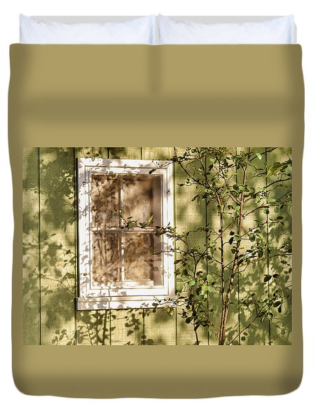 The Shed Window Duvet Cover