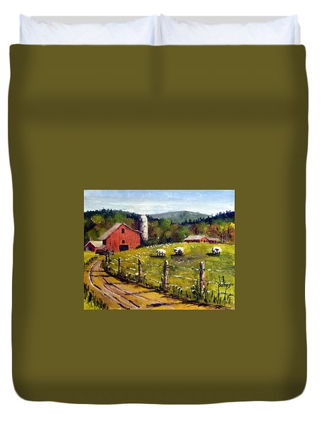 The Sheep Farm Duvet Cover