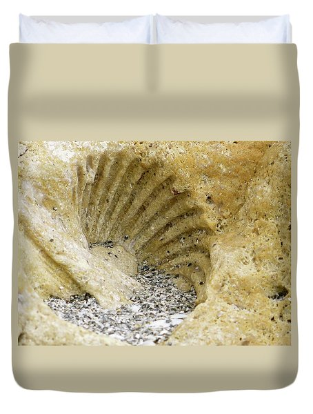 The Shell Fossil Duvet Cover