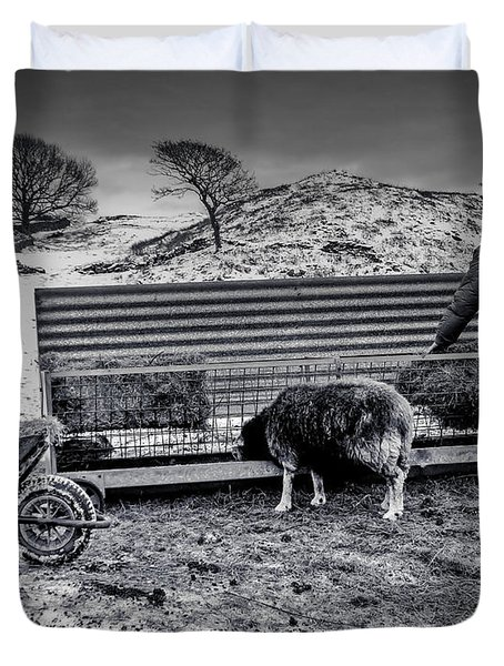 The Shepherd Duvet Cover by Keith Elliott