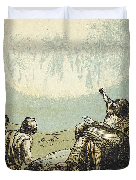The Shepherds In The Field Duvet Cover