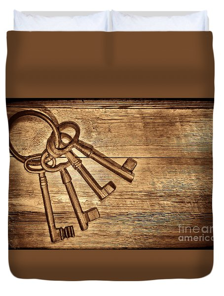 The Sheriff Jail Keys Duvet Cover by American West Legend By Olivier Le Queinec