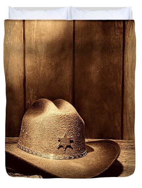 The Sheriff Office Duvet Cover