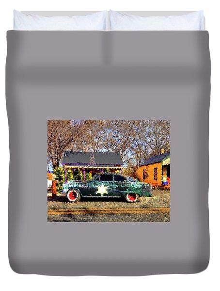 The Sheriffs Car Duvet Cover