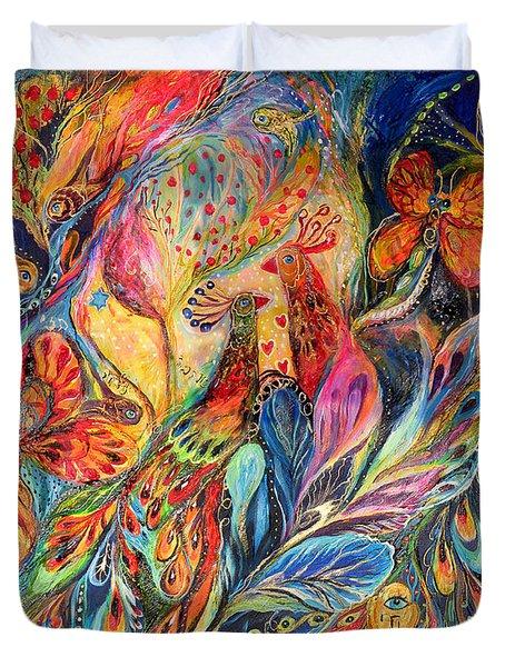 The Shining Of The Night Duvet Cover by Elena Kotliarker