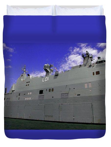The Ship Is Huge Duvet Cover