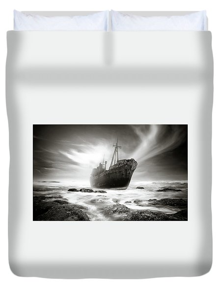 The Shipwreck Duvet Cover by Marius Sipa