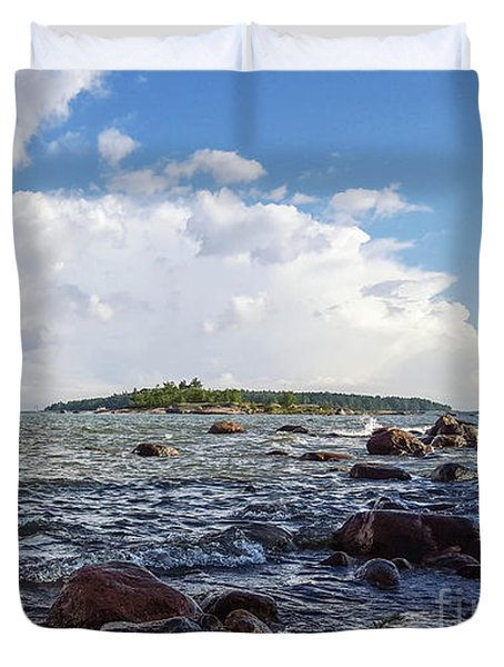 The Shore In Helsinki, Finland. Duvet Cover