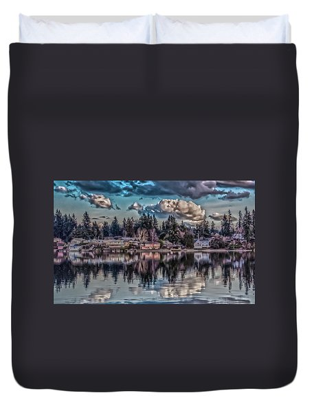 The Shore Duvet Cover by Timothy Latta