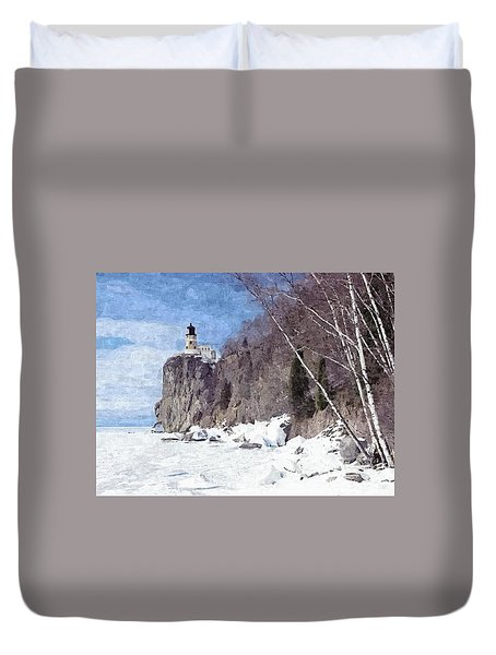 The Shoreline Lighthouse Duvet Cover
