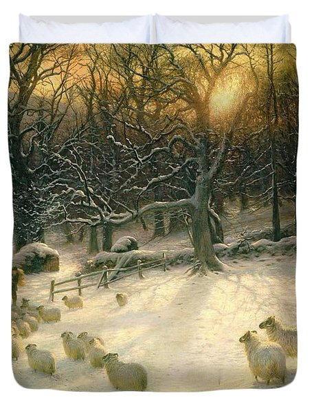 The Shortening Winters Day Is Near A Close Duvet Cover by Joseph Farquharson