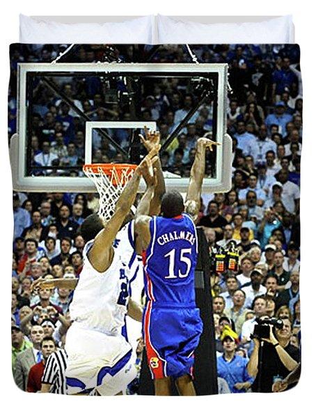 The Shot, 3.1 Seconds, Mario Chalmers Magic, Kansas Basketball 2008 Ncaa Championship Duvet Cover