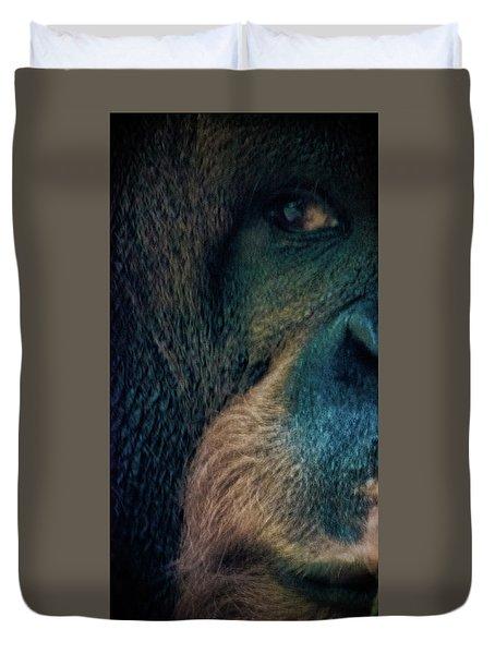 The Shy Orangutan Duvet Cover by Martin Newman