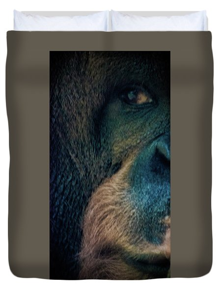 The Shy Orangutan Duvet Cover