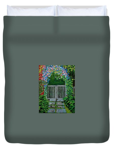 The Side Gate Duvet Cover by Mike Caitham