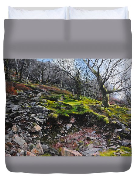 The Side Of The Valley Duvet Cover