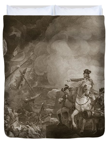The Siege And Relief Of Gibraltar Duvet Cover