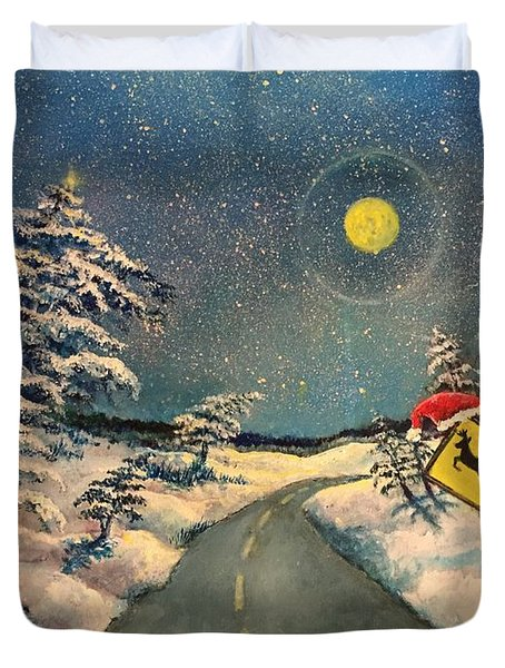 The Signs Of Christmas Duvet Cover