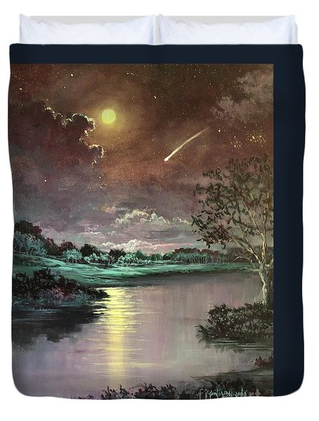 The Silence Of A Falling Star Duvet Cover