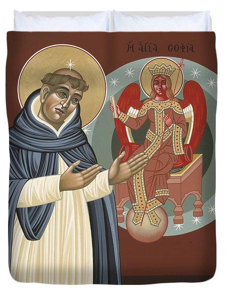 The Silence Of St Thomas Aquinas 097 Duvet Cover