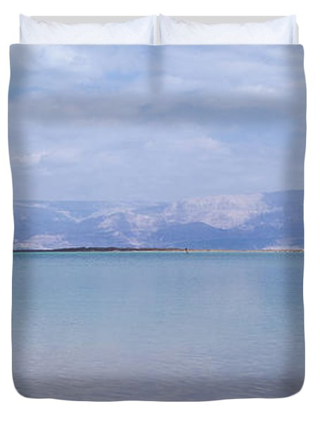 Duvet Cover featuring the photograph The Silence Of The Dead Sea by Yoel Koskas