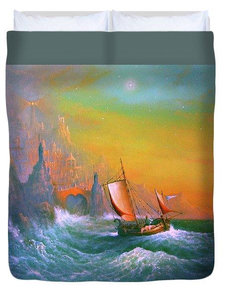 The Silmarillion Voyage Of Earendil Duvet Cover by Joe Gilronan