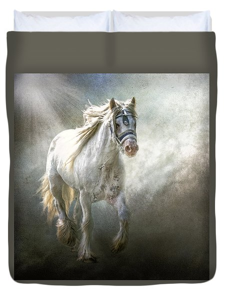 Duvet Cover featuring the photograph The Silver Cob by Brian Tarr