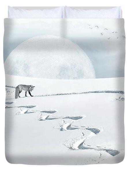 The Silver Fox Duvet Cover