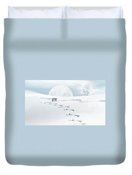 The Silver Fox Duvet Cover